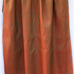 Pure Thai silk - shot handwoven handmade COPPER - red shot with GREEN