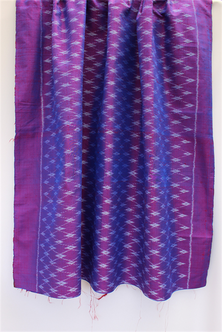 Pure Thai silk - shot handwoven handmade RED - COBALT BLUE - home decor, craft