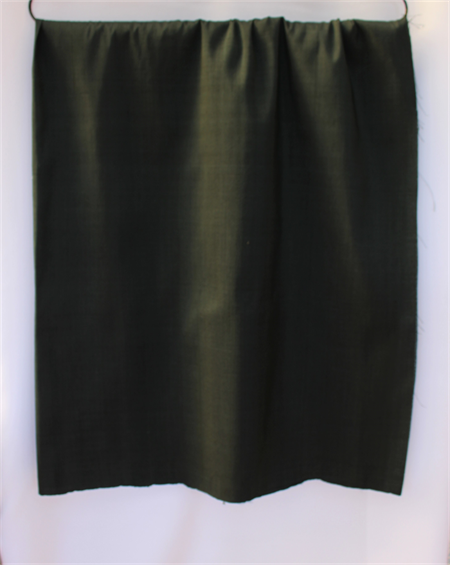 Pure Thai silk - shot handwoven handmade BLACK with GREEN - home decor, craft