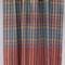Handwoven Thai cotton fabric - handmade traditional BLUE RED YELLOW orange black