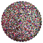 Multi Colour Rainbow Confetti Chunky Glitter Fabric Sheet A5 Sheet