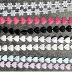 BULK BUY SATIN 8mm TRIMS - HEARTS, FLOWERS, BUTTERFLIES