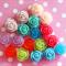 18 Resin Vintage Rose Cabochons