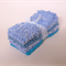 "CHENILLE PATCHWORK 6"" SQUARES, Vintage, Baby Blue, Quilting, Toymaking"