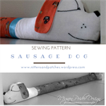 Sausage Dog Sewing Pattern; Door Draft Stopper; Home Decor