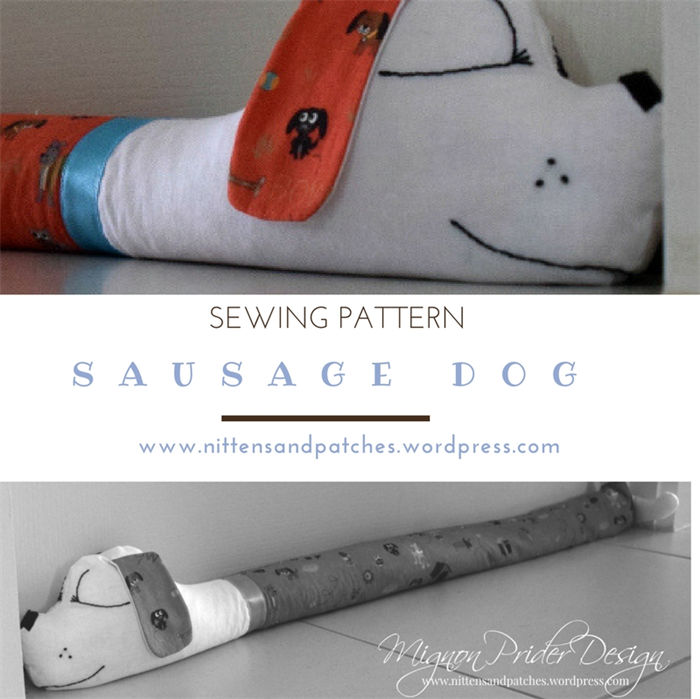 Sausage Dog Sewing Pattern Door Draft Stopper Home Decor