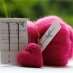 Needle felting Hearts kit and tutorial