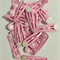 Hair clips 'snaps' (30) pink with adhesive pad