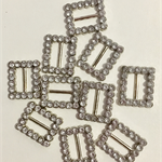 Crystal buckles (10) oblong