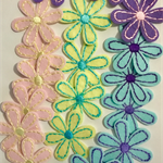 Embroidered Felt Flowers (20)