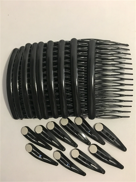 Starter pack: Hair clips 'snaps' (10) and Hair combs (10)