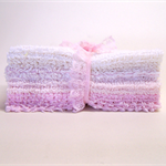 CHENILLE PATCHWORK 6 Inch SQUARES, Pretty Pinks, Quilting, Craft, Toymaking