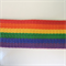 Rainbow coloured webbing - belting - nylon belt trim - 1.5m