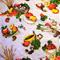 VINTAGE BARKCLOTH Destash, Retro Fruit, Vegetables, Kitchen, Cotton