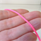 Hot pink woven nylon cord - fluro pink - 3mm cord - 3m length