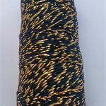 Metallic Gold & Black Bakers Twine - 4 ply - 100% Cotton