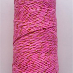 Metallic Gold and Pink Bakers Twine - 4 ply - 100% Cotton