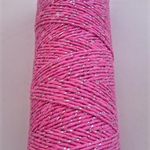 Metallic Silver & Pink Bakers Twine - 4 ply - 100% Cotton