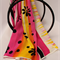 Batik Thai sarong, pareo beach wrap, handpainted fabric, YELLOW FUCSHIA flowers