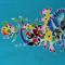 Batik fabric, handpainted, handmade Thailand, BLUE two tone