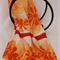 Batik Thai sarong, pareo beach wrap, handpainted fabric, ORANGE flowers