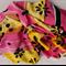Batik beach Thai sarong pareo cover up wrap fabric YELLOW FUCSHIA flowers