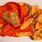 Batik Thai sarong, pareo beach wrap, handpainted fabric, ORANGE YELLOW abstract