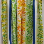 Batik beach Thai sarong pareo cover up wrap fabric GREEN ORANGE YELLOW flowers