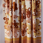 Batik beach Thai sarong pareo cover up wrap fabric BROWN MUSTARD flowers