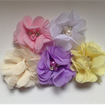 5 x Chiffon flower