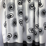 Batik beach Thai sarong pareo cover up wrap fabric BLACK GREY circles