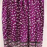 Batik beach Thai sarong pareo cover up wrap fabric PURPLE WHITE spots