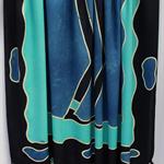 Batik beach Thai sarong pareo cover up wrap fabric BLUE BLACK tribal
