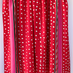 Batik beach Thai sarong pareo cover up wrap fabric RED WHITE spots