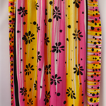 Batik beach Thai sarong pareo cover up wrap fabric YELLOW FUCSHIA flowers
