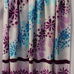 Batik beach Thai sarong pareo cover up wrap fabric PURPLE BLUE flowers