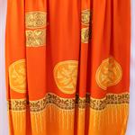 Batik beach Thai sarong pareo cover up wrap fabric ORANGE YELLOW abstract