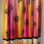 Batik beach Thai sarong pareo cover up wrap fabric YELLOW FUCSHIA abstract