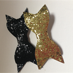 2 x glitter bow
