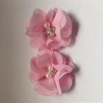 2 x pink Chiffon flower