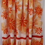 Batik beach Thai sarong pareo cover up wrap fabric ORANGE flowers