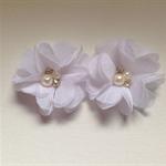 2 x white Chiffon flower