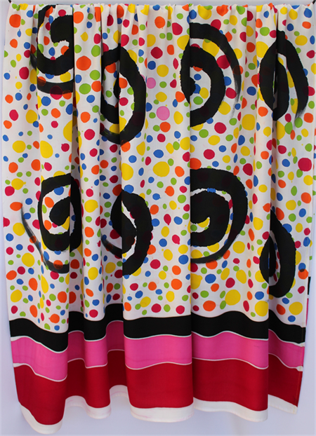 Batik Thai sarong, pareo beach wrap, handpainted fabric, MULTICOLOUR spots