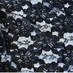Stunning Black Guipure Lace, for formal wear, shawl