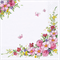 3 Paper Napkins for Decoupage / Parties / Wedding - Spring Flowers