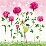 3 Paper Napkins for Decoupage / Parties / Wedding - Rose Garden