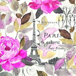 3 Paper Napkins for Decoupage / Parties / Weddings - Paris in Pink