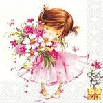 3 Paper Napkins for Decoupage / Parties / Wedding - Little Princess