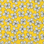 3 Paper Napkins for Decoupage / Parties / Weddings - White Flowers on Yellow