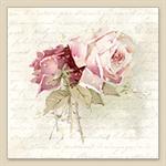 3 Paper Napkins for Decoupage / Parties / Weddings - Vintage Rose Poem